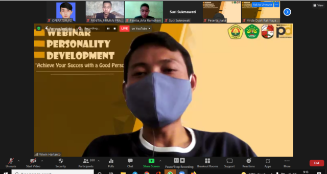 National Webinar Personality Development 2021: Achieve Your Success with a Good Personality